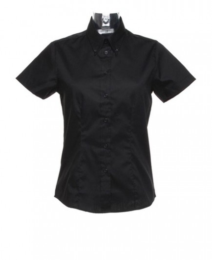 Kustom Kit Ladies Short Sleeve Corporate Oxford Shirt