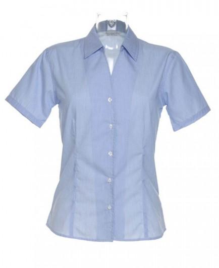 Kustom Kit Ladies Pinstripe Short Sleeve Shirt