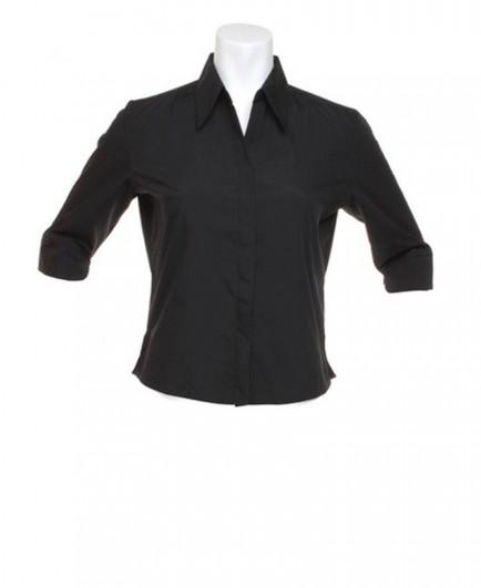 Kustom Kit Ladies 3/4 Sleeve Continental Blouse