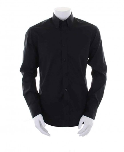 Kustom Kit Long Sleeve Tailored Oxford Shirt