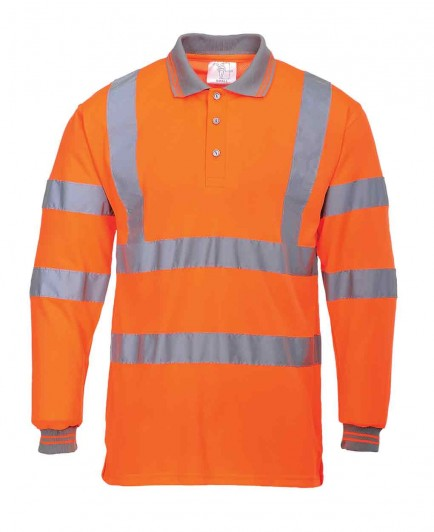 Portwest S277 Hi-Vis Long Sleeved Polo Shirt