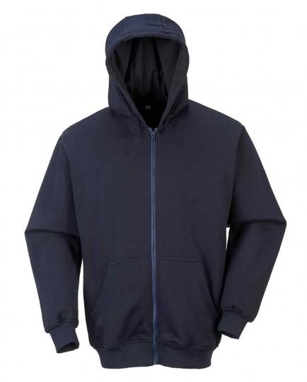 Portwest FR81 FR Zip Front Hooded Sweatshirt