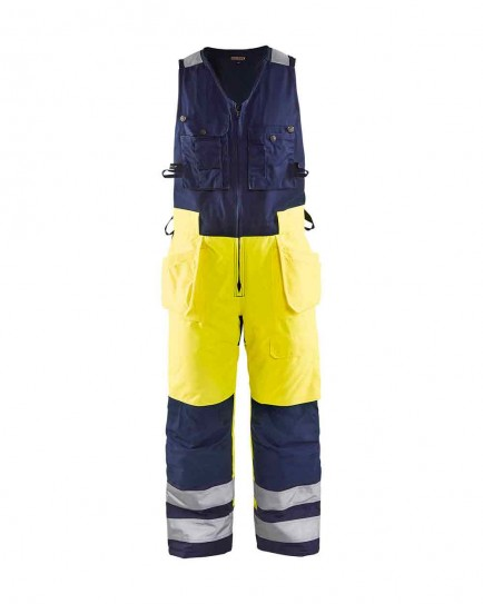 Blaklader 8504 Winter Sleeveless Overalls, High Vis