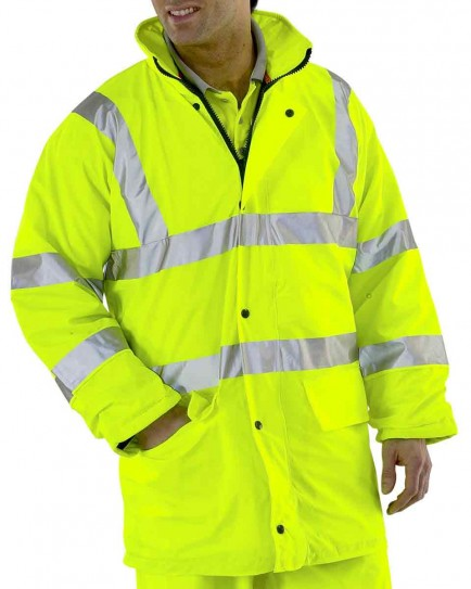 B-Seen PULJ471 Lined Breathable Hi-Viz Jacket