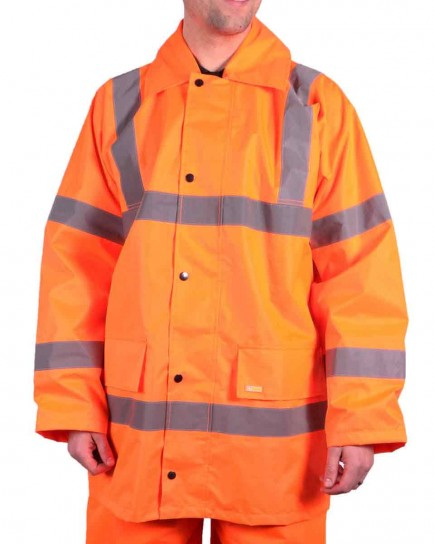 B-Seen TJ8 Lightweight Orange EN471 Jacket