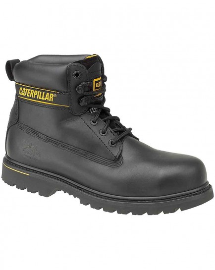 CAT Holton SB Black Leather Safety Boot
