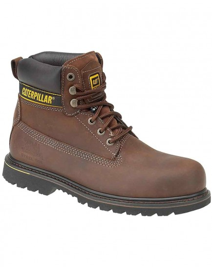 CAT Holton SB Brown Leather Steel Toe Boot