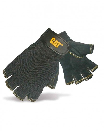 CAT 12202 Pig Skin Fingerless Glove