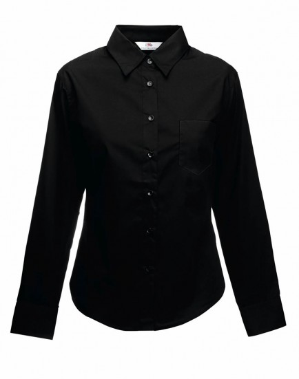 Fruit of the Loom SS482  Ladies Long Sleeve poplin Shirt