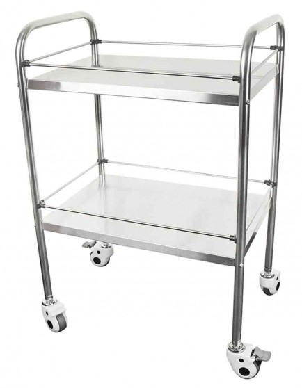 Click Medical CM1716 Two Tier Stainless Steel Medical Trolley