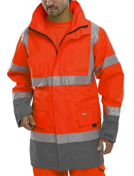 B-Seen BD109 Saturn Yellow Hi-Vis Jacket