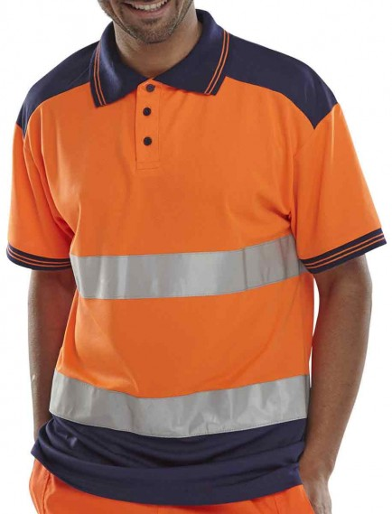 B-Seen CPKSTT EN471 Class 2 2-tone Hi-Viz shirt
