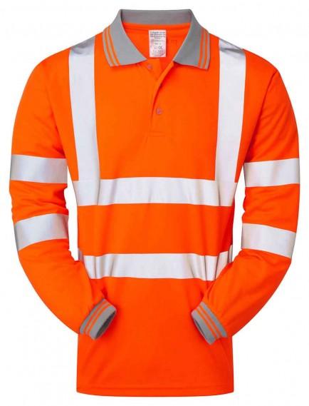 PULSAR PR470 Rail Spec Long Sleeve Hi-viz Polo Shirt
