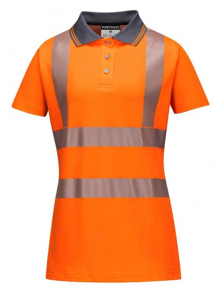 Portwest LW72 Hi-Vis Ladies Pro Polo Shirt