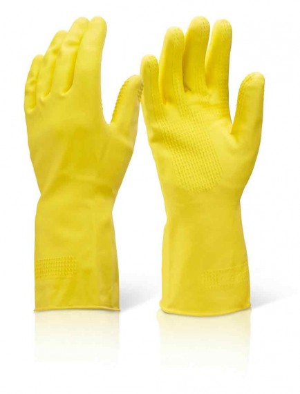 Click HHYHW Household Heavyweight Rubber Glove Yellow
