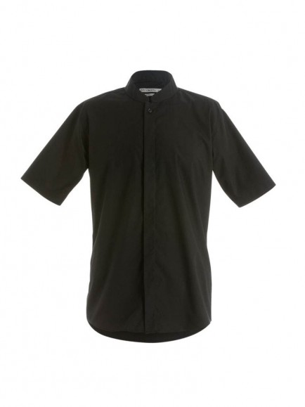 Kustom Kit Short Sleeve Mandarin Collar Shirt