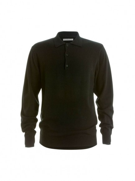 Kustom Kit Long Sleeve Arundel Knitted Polo