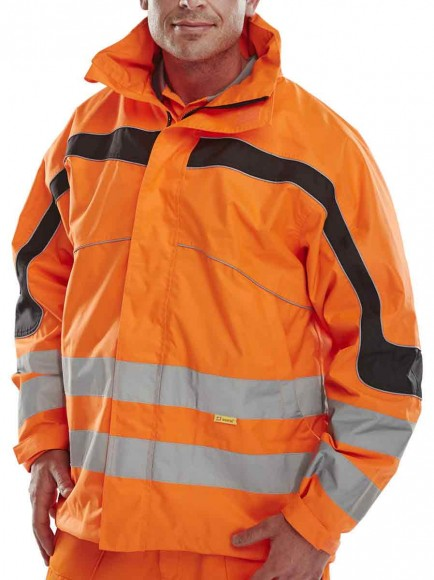 B-Seen ET46OR Eton Breathable Hi-Viz GORT Jacket Orange