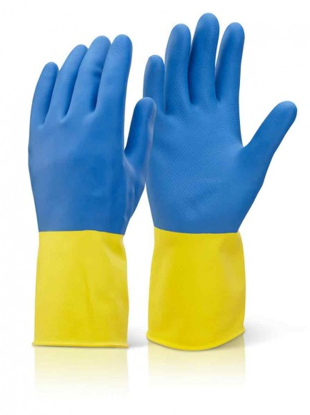 Click BCYB Bi Colour Heavyweight Rubber Glove