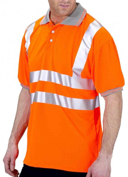 B-Seen BPKSEN Hi-Viz Polo Shirt