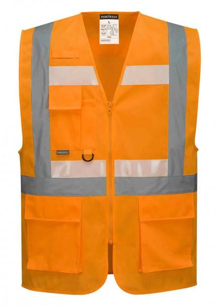 Portwest G456 Glowtex Ezee Zip Executive Vest