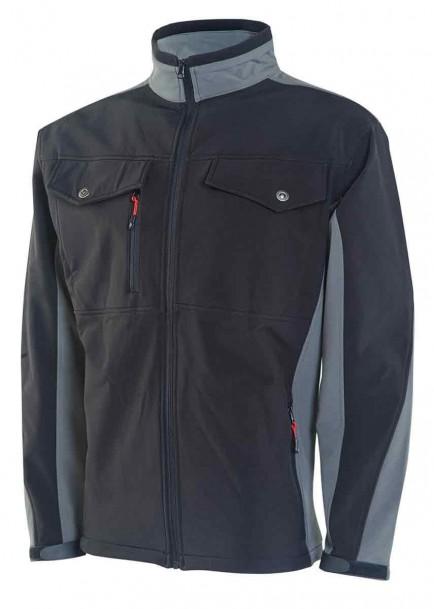 Click SSJTTBLGY Soft Shell Jacket Two Tone Black/Grey