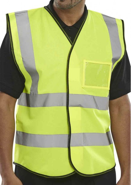 B-Seen BD108SY ID Vest Saturn Yellow