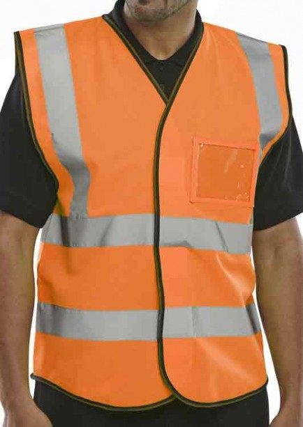 B-Seen BD108OR ID Vest Orange