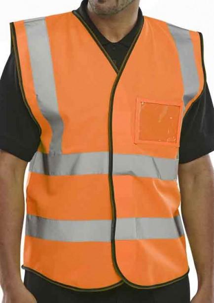 B-Seen BD108OR ID Vest Orange