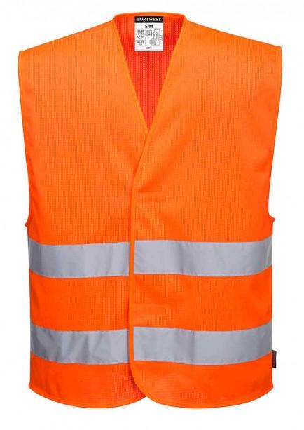 Portwest C374 MeshAir Hi-Vis Two Band Vest