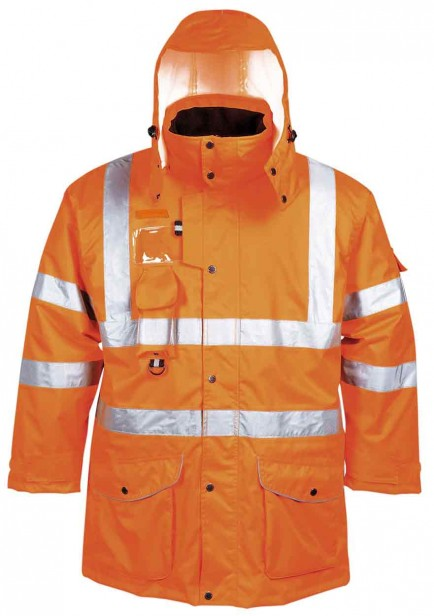 Portwest RT27 Hi-Vis 7-in-1 Traffic Jacket GO/RT