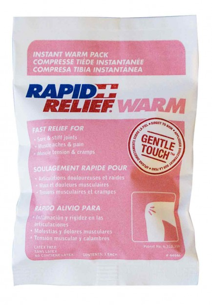 "Rapid Aid RA44346 Instant Warm Pack C/W Gentle Touch Technology Small 4""X 6"""