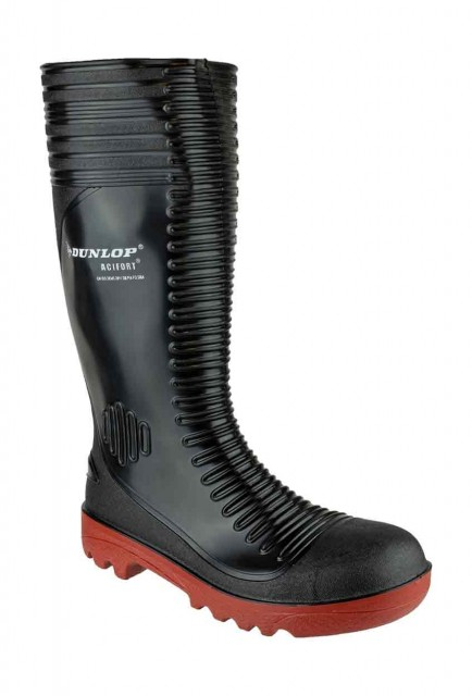 Dunlop A252931 Acifort Ribbed Super Safety Wellingtons Black