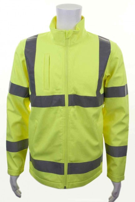 B-Seen SS20471 Soft Shell Jacket Sat Yellow