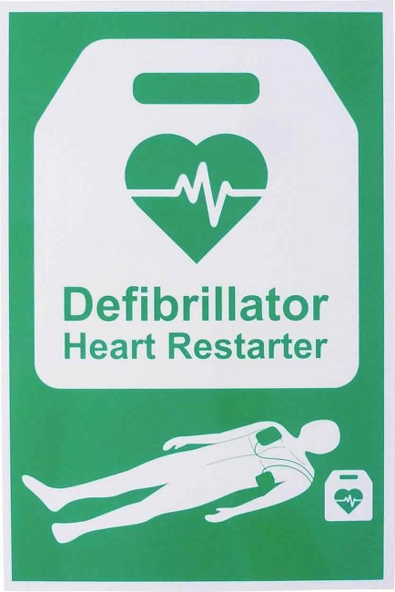 Click Medical CM1328 Aed Automated External Defibrillator Sign