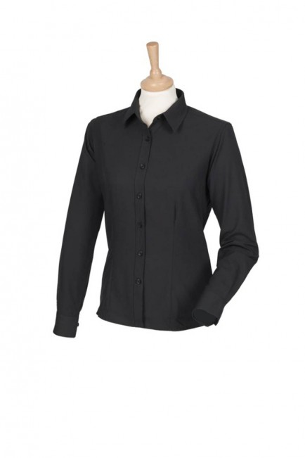 Henbury H591 Ladies Long Sleeve Wicking Shirt