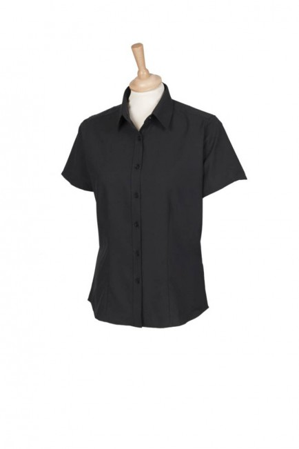 Henbury H596 Ladies Short Sleeve Wicking Shirt