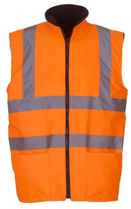 Yoko YK041 Hi Vis Reversible Fleece Bodywarmer (HV008F)