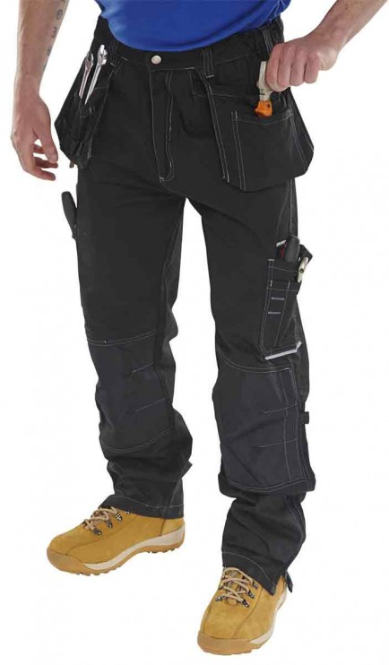 Click SMPTBL Shawbury Multi Pocket Trouser Black