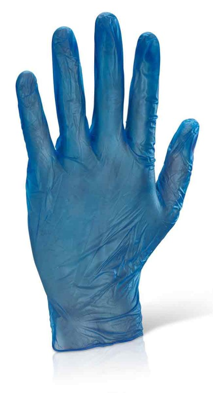 Click VDGB Vinyl Disposable Gloves Blue