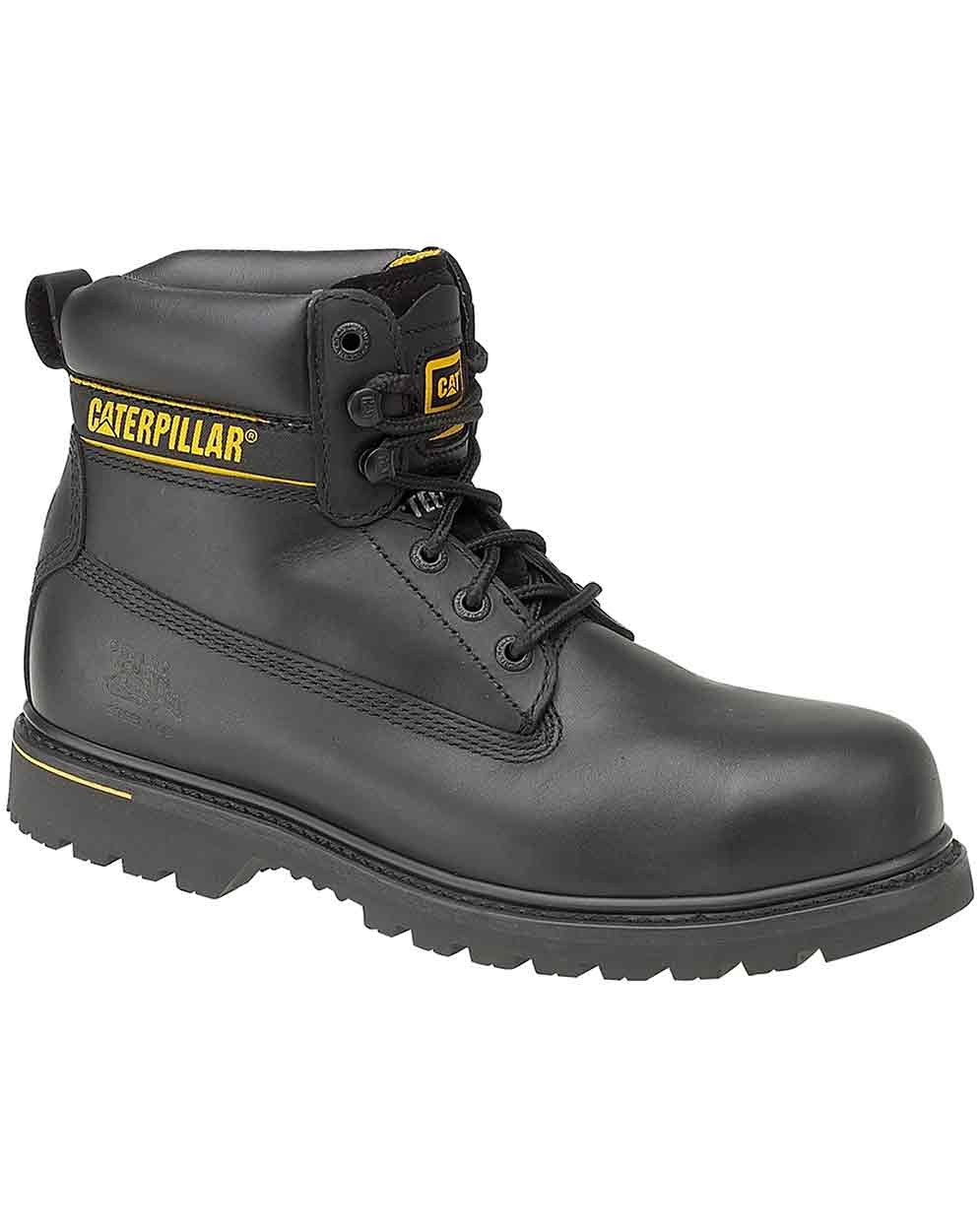 Cat Holton Sb Black Leather Safety Boot Standard Safety Boots