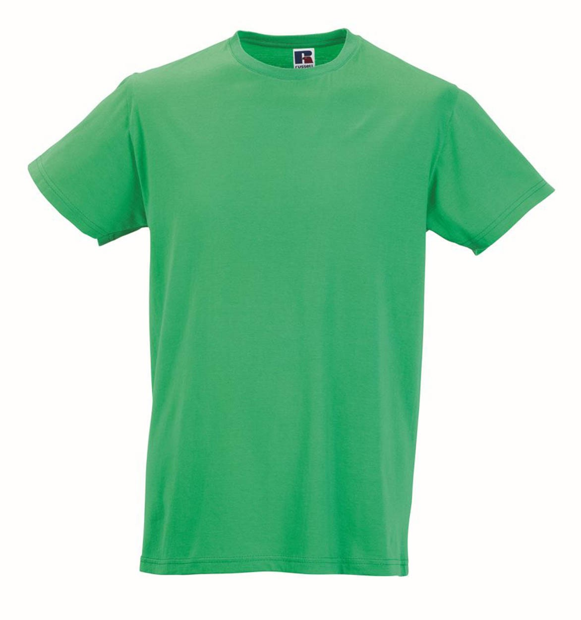 Russell Collection Colours Mens Slim Fit Short Sleeve Cotton Casual T-Shirt