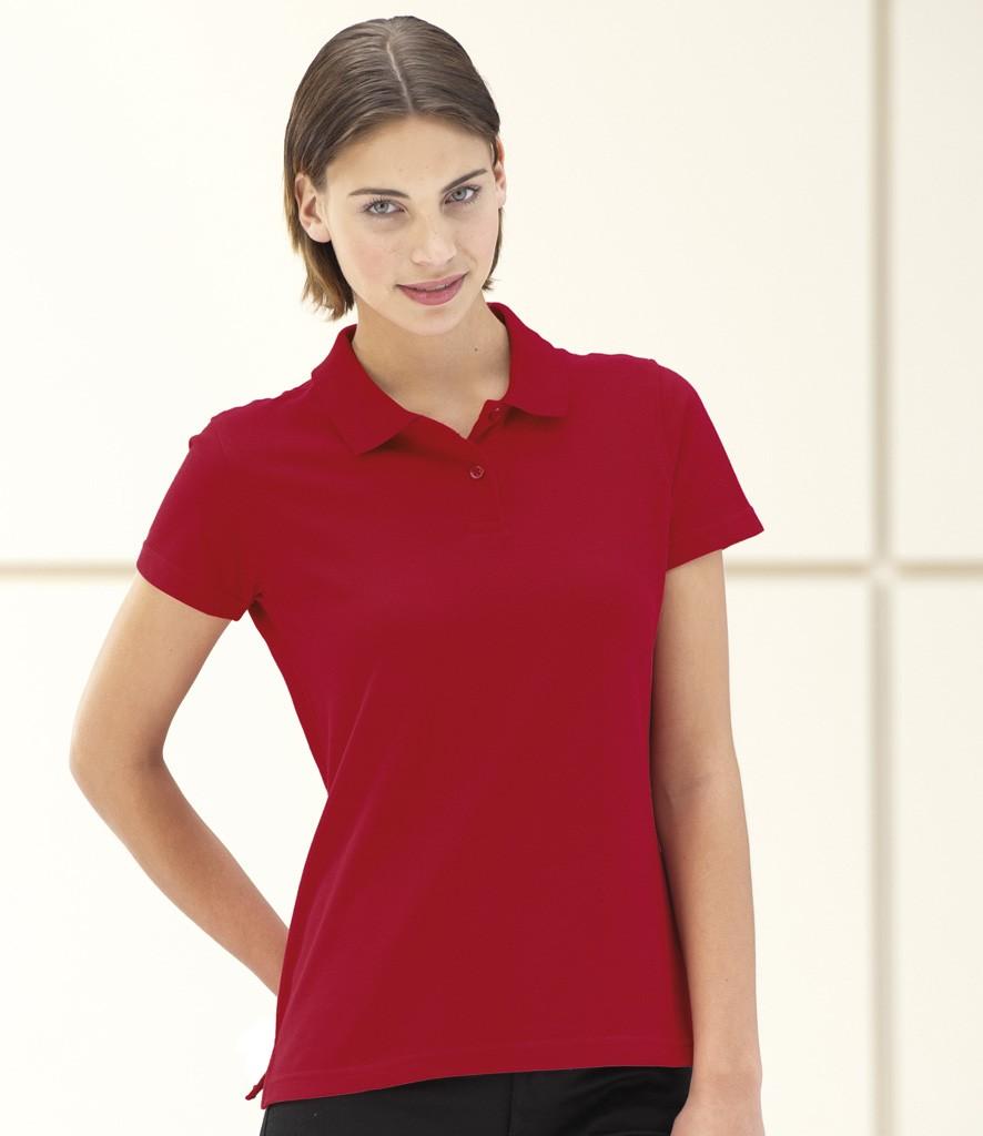 Jerzees Ladies Pique Polo Shirt Apple Green L ...