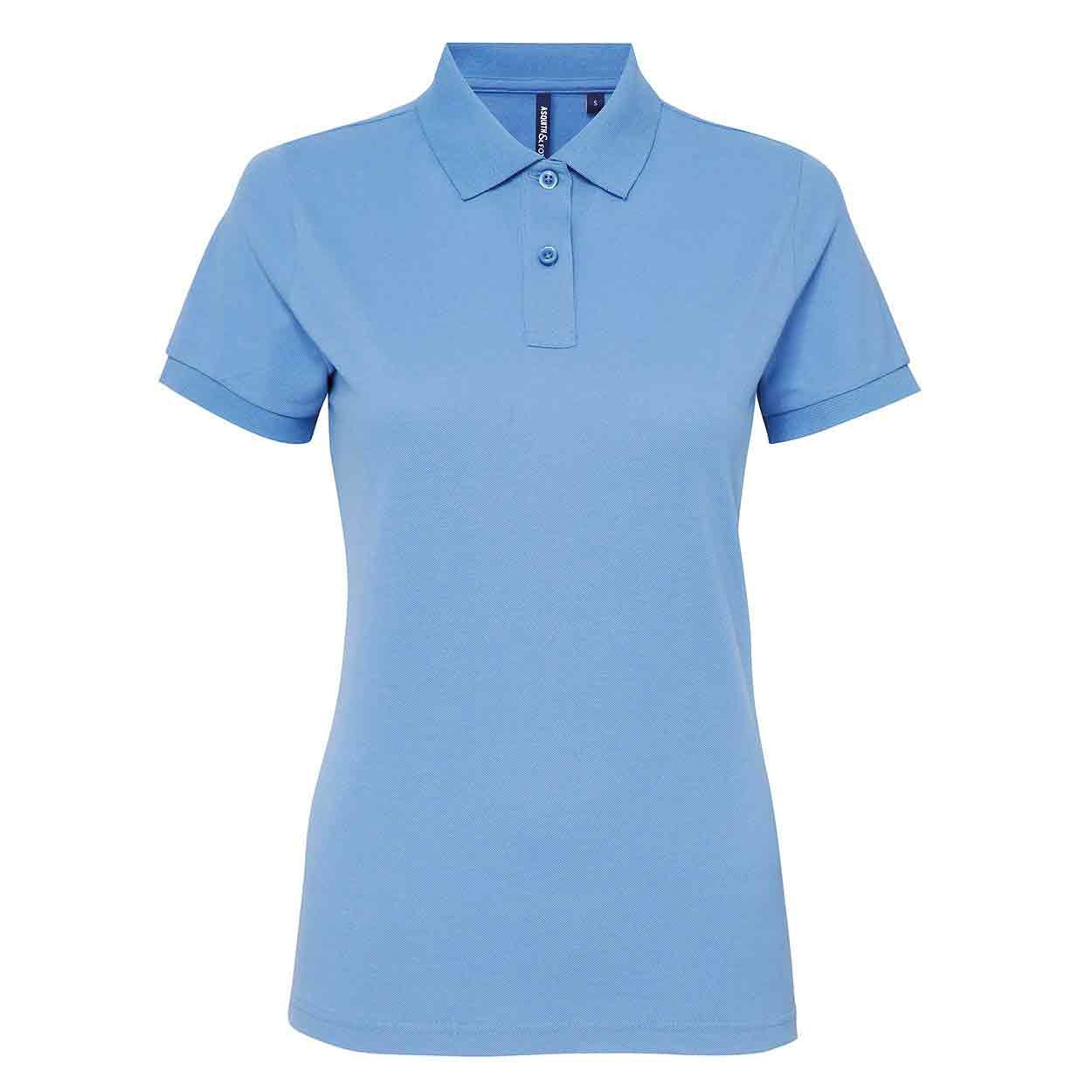 Asquith Fox Womens Asquith /& Fox Poly//Cotton Blend Polo Shirt