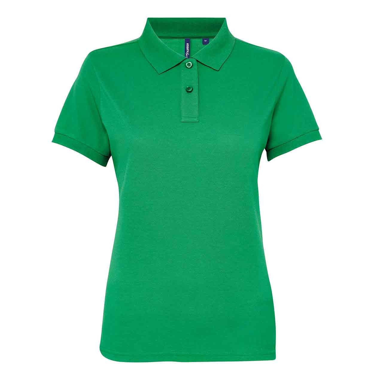 12739a00 Asquith & Fox AQ025 Women's poly/cotton blend polo - Women's Poly ...