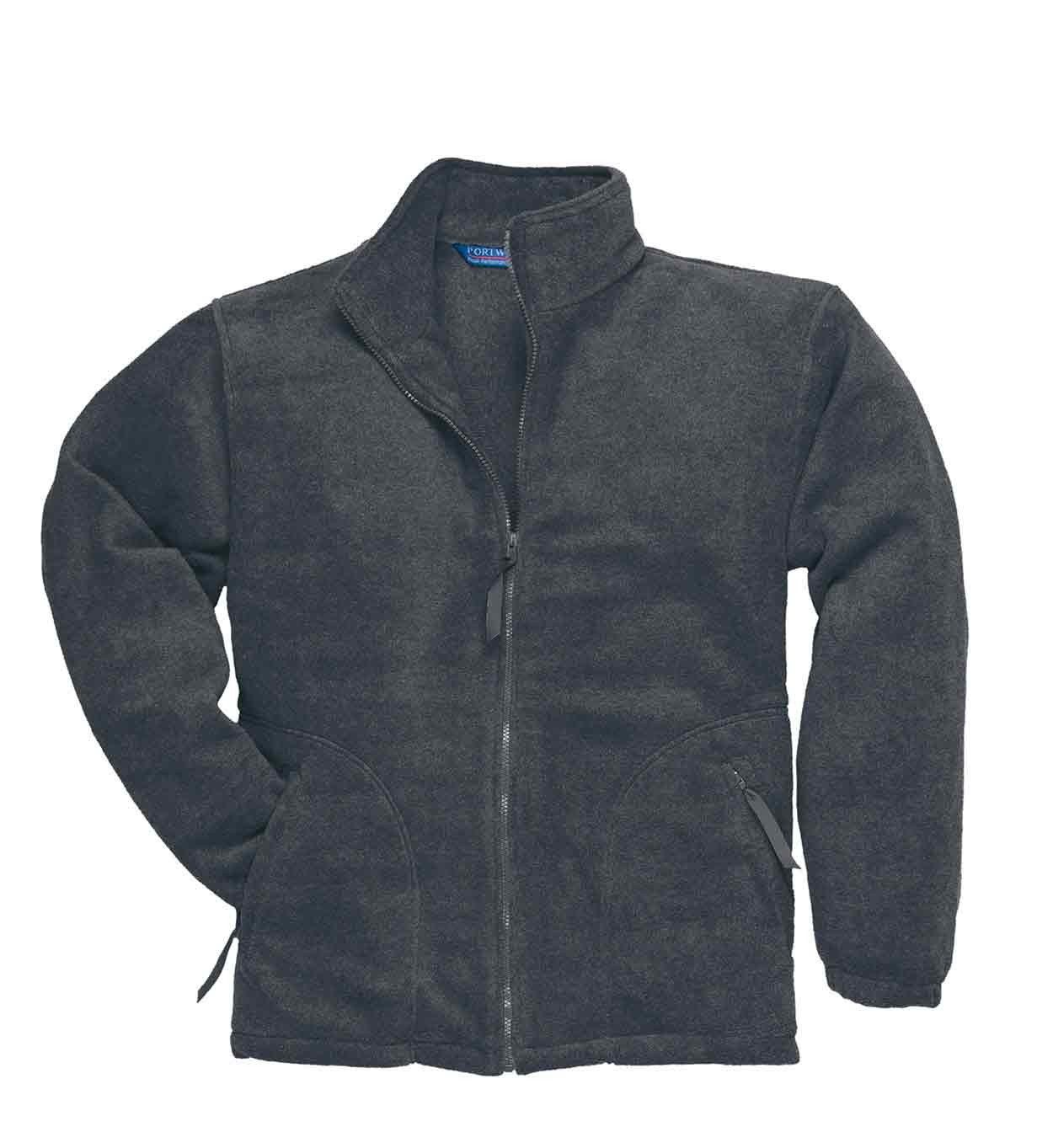 Portwest Argyll Heavy weight Zip Jacket Unlined Fleece Work Wear Zip Pocket F400