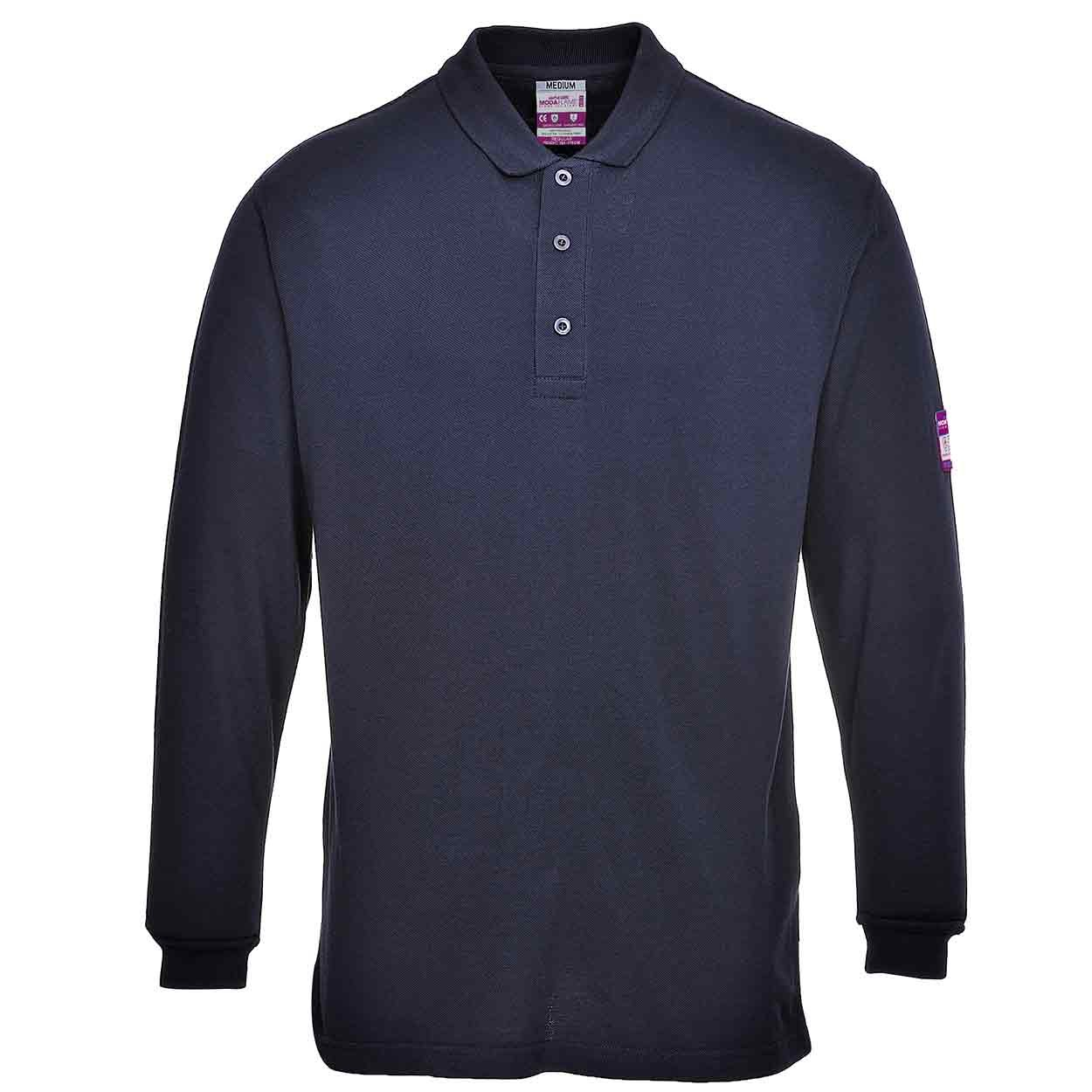 Flame Resistant Anti-Static Long Sleeve Polo Shirt Portwest