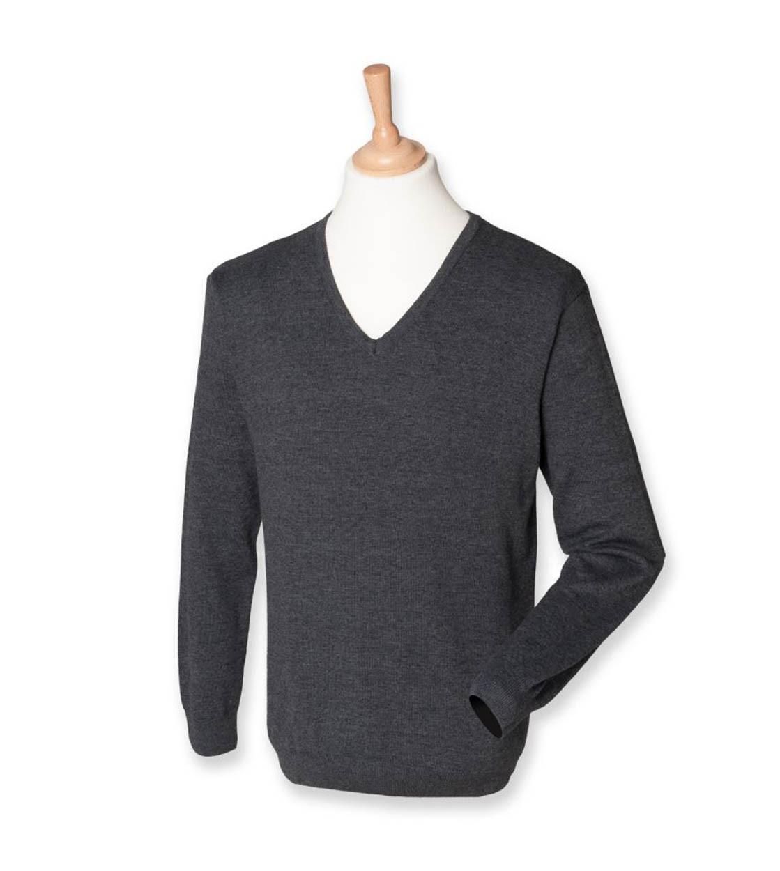 Henbury H720 Mens V Neck Sweater