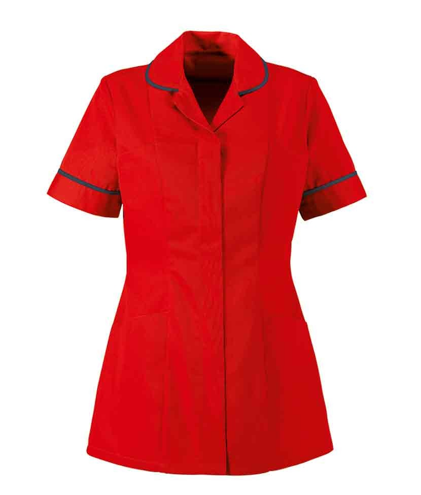 Alexandra Womens Tunic Nurses And Healthcare Uniforms Torch Tunik Women Burgundy Maroon Xl Red Navy Piping