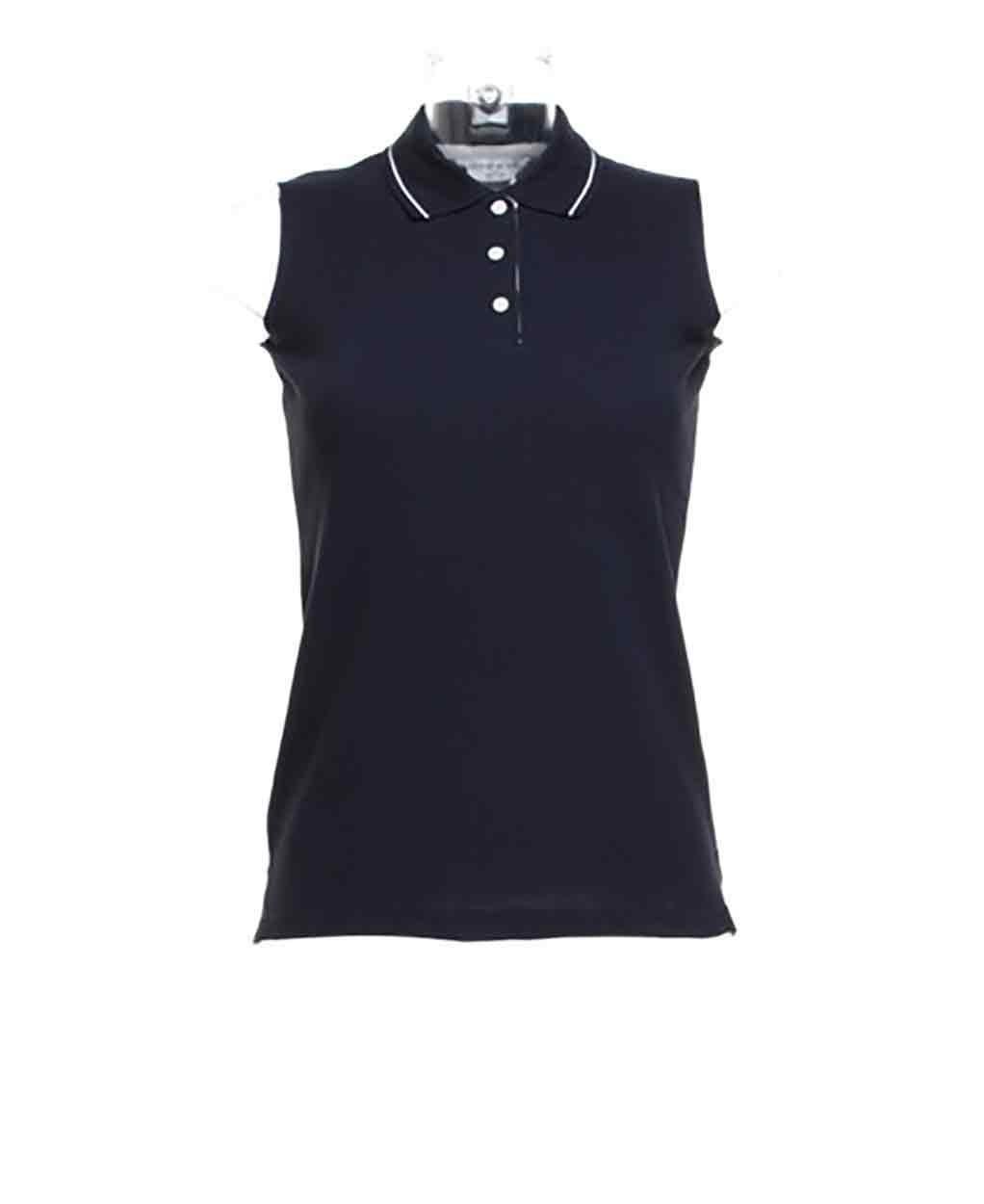 71b3a8702c0a6 Gamegear Ladies Proactive Sleeveless Pique Polo Shirt. Zoom · Women s  Gamegear Proactive Polo Navy White ...